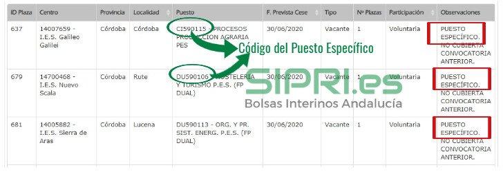 Requisitos de los Puestos Específicos de SIPRI