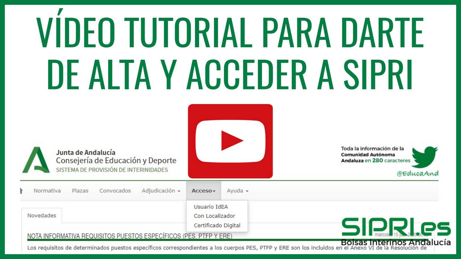 Cómo acceder a SIPRI, vídeo tutorial