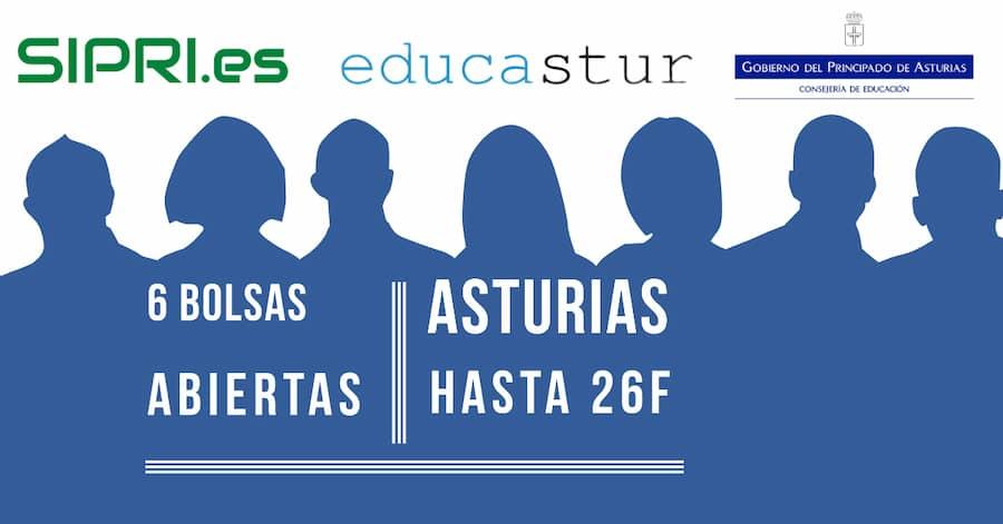 Bolsas de trabajo abiertas en Asturias para profesores de primaria, secundaria y fp.