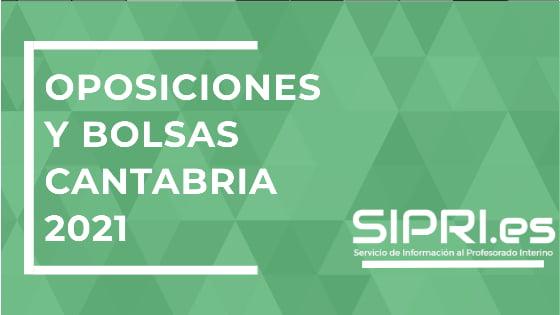 Convocatoria Oposiciones docentes Cantabria 2021