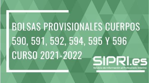 Publicadas las Bolsas provisionales de los Cuerpos de Secundaria, PTFP y ERE en Andalucía para el curso 2021-2022
