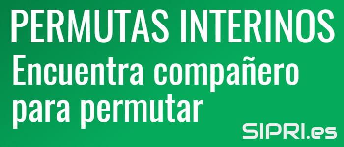 Permutas entre interinos Andalucía 2021